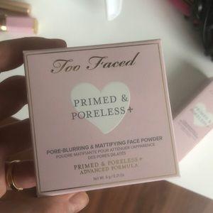 Too faced primed and poreless face powder